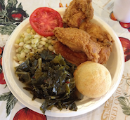 Pannie George's Collard Greens Sunday Dinner